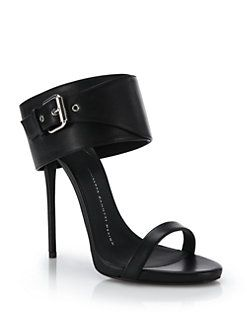 Giuseppe Zanotti Leather Buckle Sandals discount countdown package sale online visit for sale buy cheap ebay authentic online MiKdDx