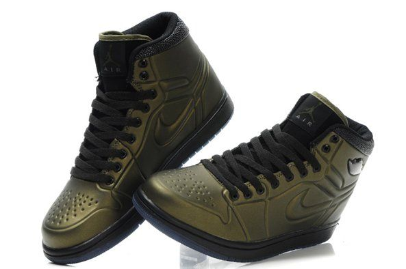 Nike Air Jordan 1 I Mens Shoes High Online Green  0368a2a53b8b