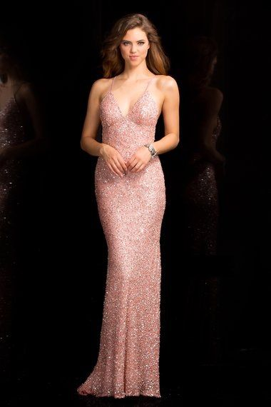 2803847e7 Scala 47551 Prom Dress in Blush Rose