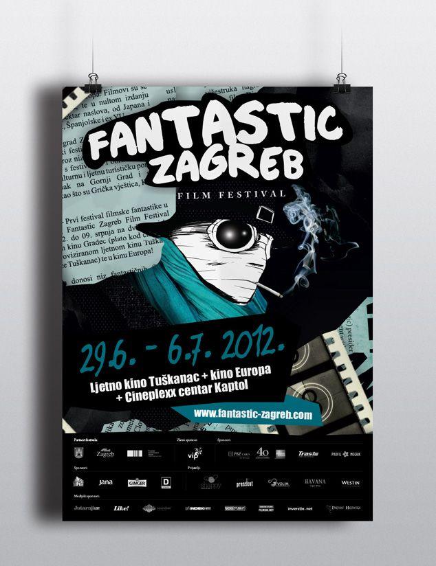 We Created Visual Identity For Fantastic Zagreb Film Festival The Only Fantasy Film Festival In The Region Visual Identity Fantasy Films Visual