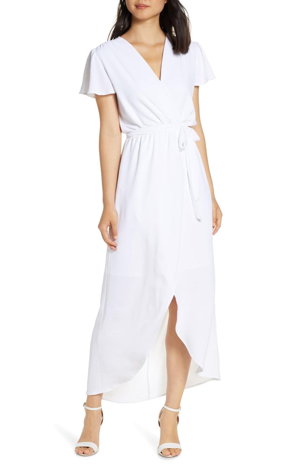 Fraiche By J High Low Faux Wrap Dress Nordstrom Everyday Dresses Maxi Wrap Dress Wrap Dress [ 1533 x 1000 Pixel ]