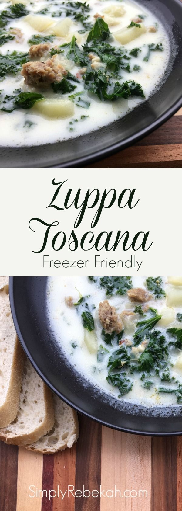 Freezer Friendly: Zuppa Toscana Soup #zuppatoscanasoup