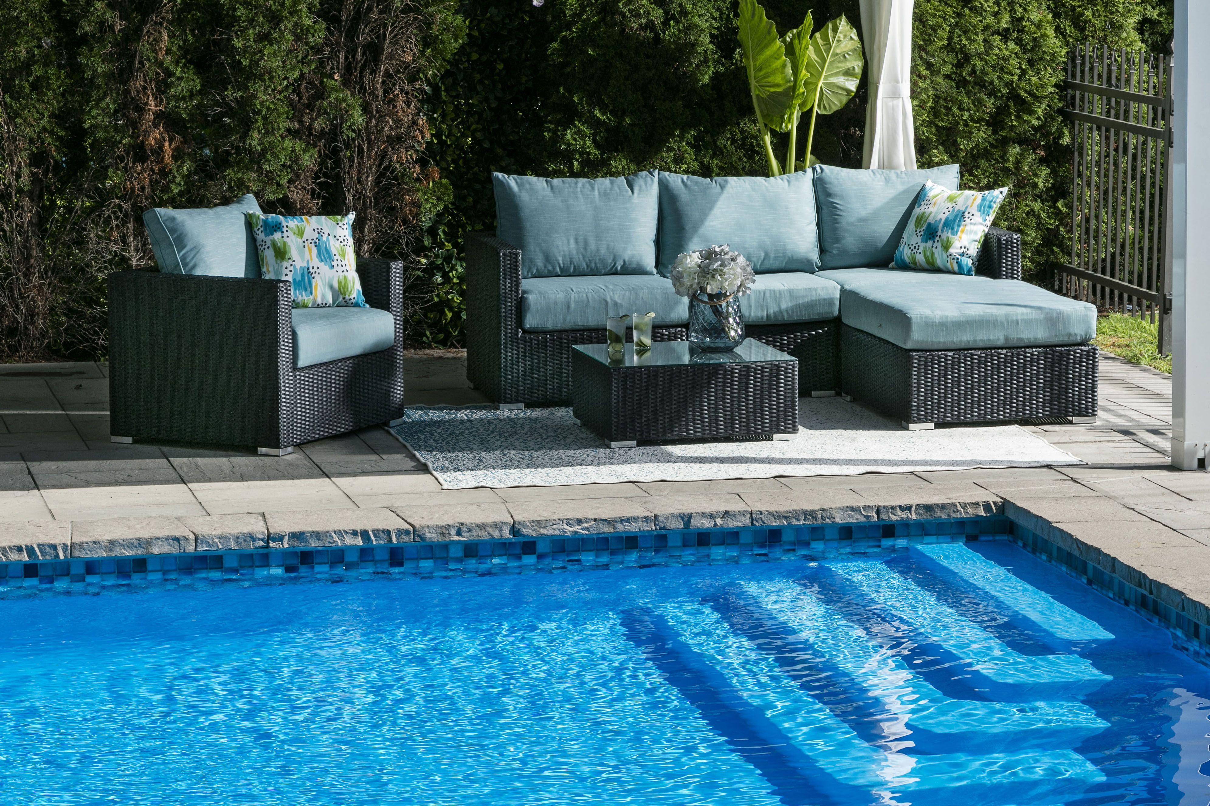 Sectionnel Exterieur Milan Outdoor Sectional Outdoor Furniture Outdoor Decor Outdoor Sectional Sofa