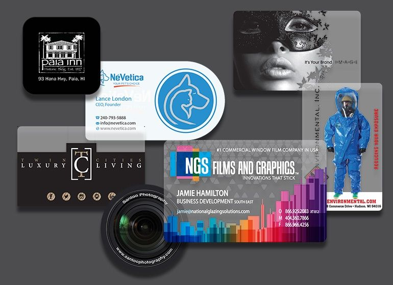 Custom printed plastic business cards cartes de visita custom printed plastic business cards reheart Images
