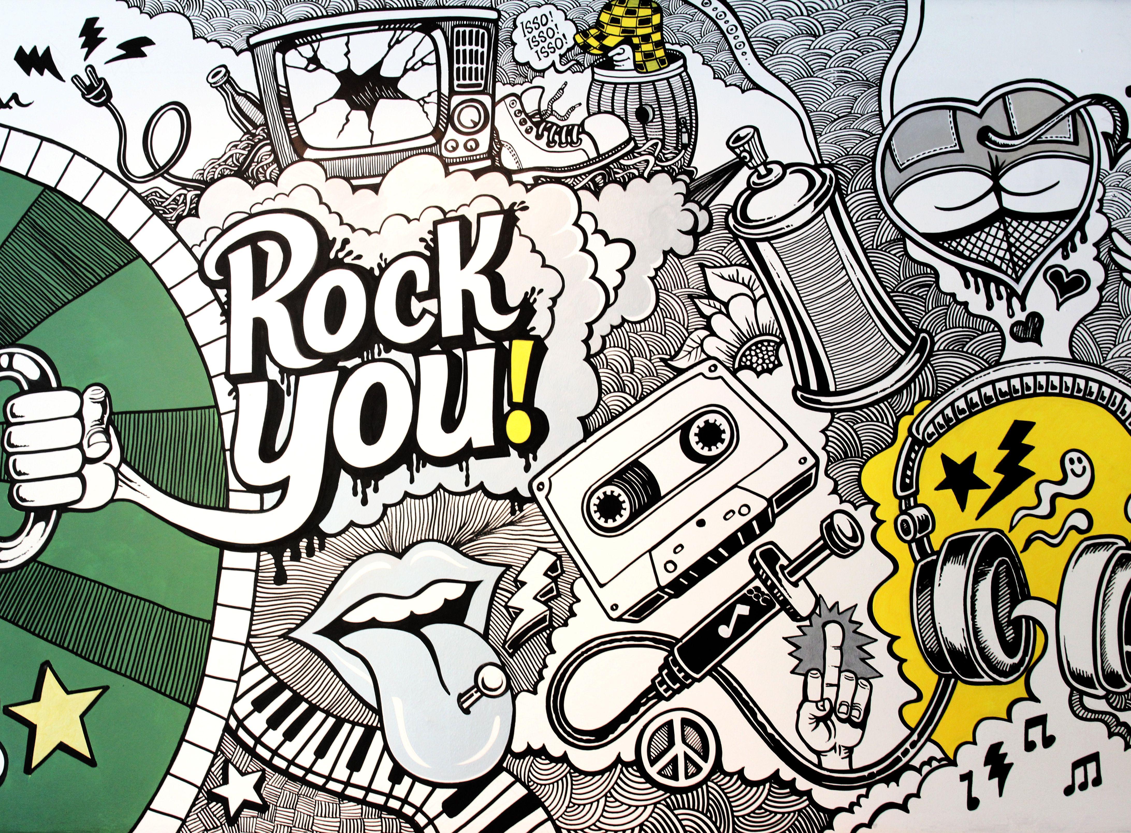 Ilustração no Pub Zé Brasil em Franca SP. Children