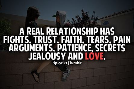 Trust is the base of relationships