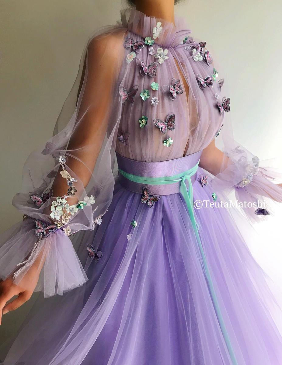 46 Fantastic Purple Dress You Deserve Best Page 11 Of 12 Butterfly Dress Lavender Dresses Ball Gowns [ 1200 x 927 Pixel ]