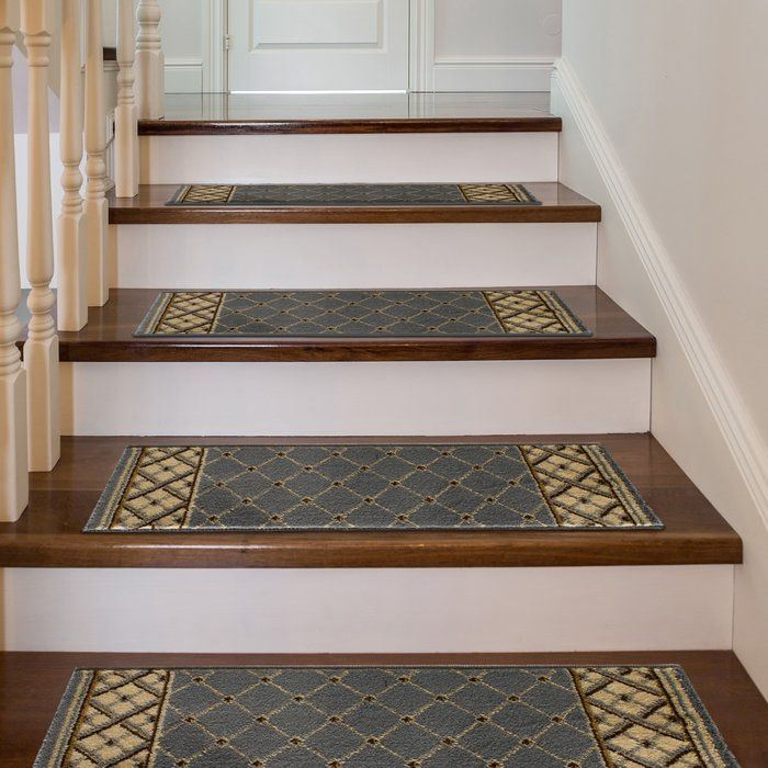 Best Ryley Rhombus Light Blue Stair Tread With Images Stair 640 x 480