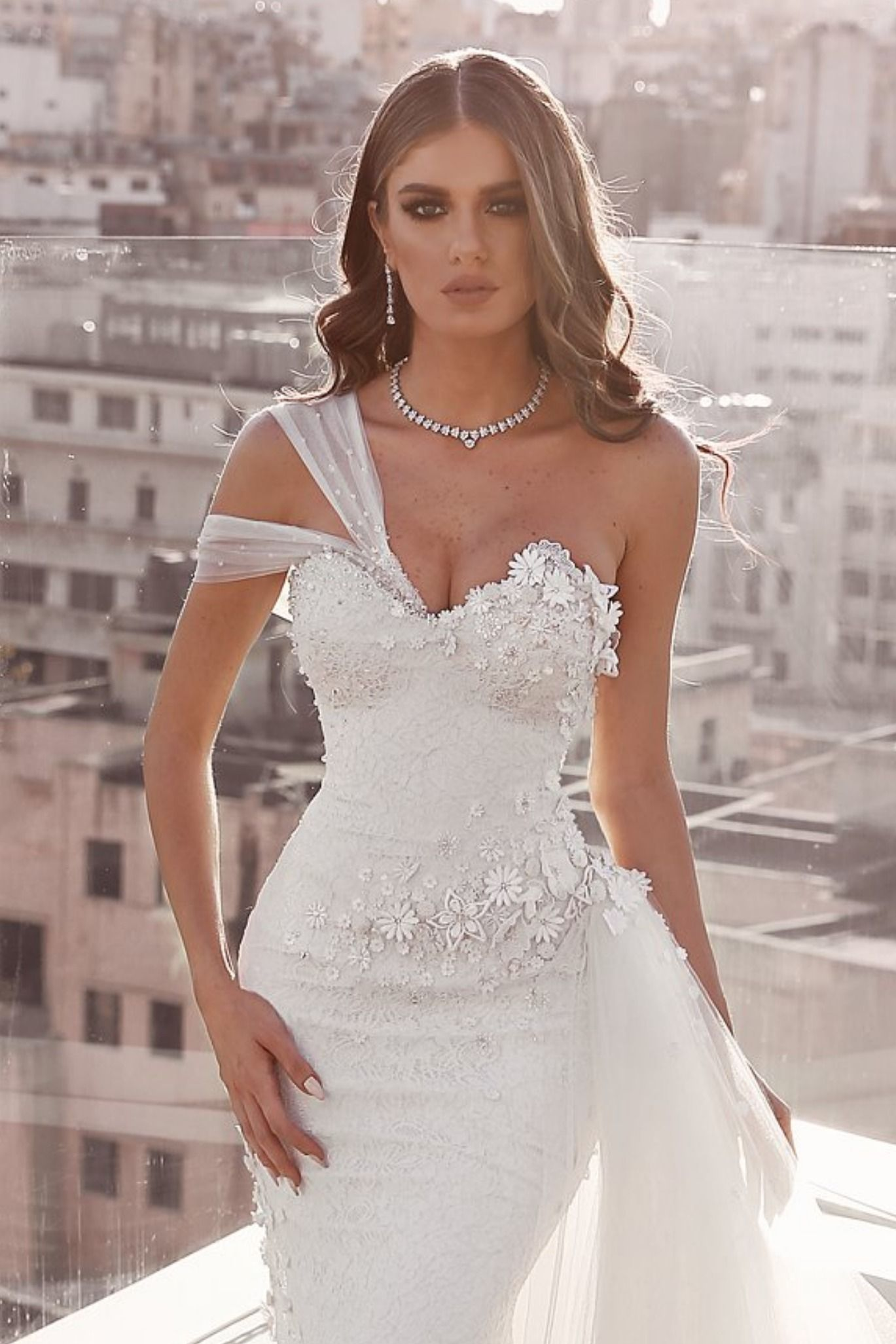 Sadek Majed Wedding Gown Wedding Dresses Asymmetrical Wedding Dress Summer Wedding Dress [ 2053 x 1369 Pixel ]