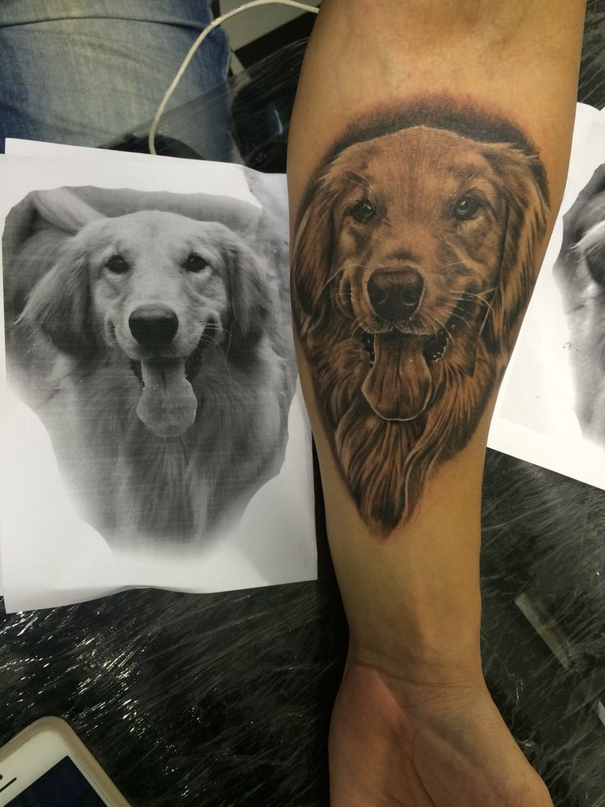#tattoo #golden dog | Tattoo my work | Pinterest | Tattoo