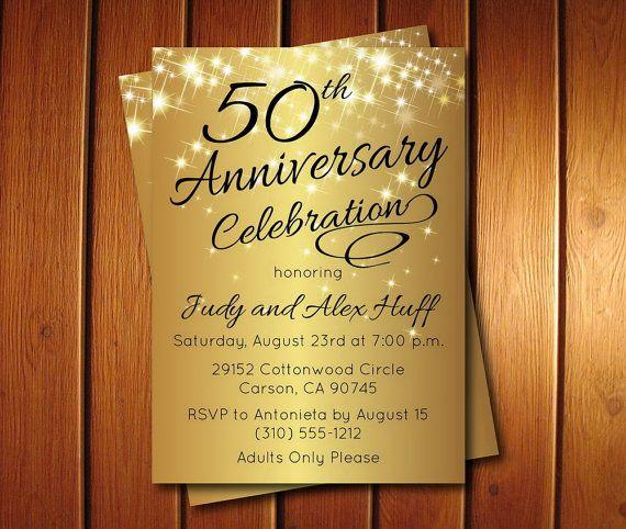 50th anniversary invitation golden invite instant download