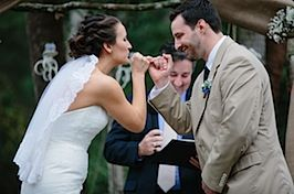 A Nontraditional Wedding Ceremony Vows Sealed With Pinky Promise And Readings Are Funny