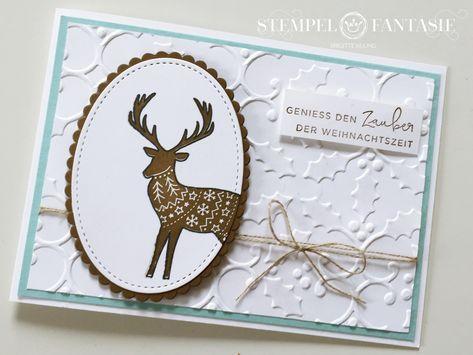 Hirschkarte zum Advent mit Nikolaus-Verlosung – Stempelfantasie • Brigitte Keiling • Stampin' Up! • Landsberg am Lech • Stempeln #stampinup!cards
