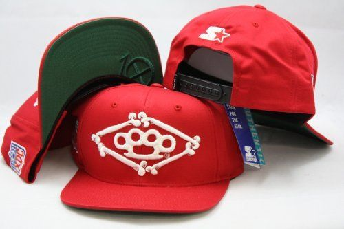 Brass Knuckles 10 Deep Starter Snapback Adjustable Plastic Snap Back Hat Cap Red By Starter 24 99 Make A Fashion Statement While Hats Caps Hats Snap Backs