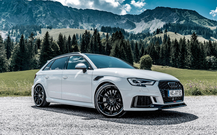 Download Wallpapers Abt Tuning 4k Audi Rs3 Sportback 2018 Cars Road White Rs3 Sportback German Cars Audi Besthqwallpapers Com Audi Rs3 Rs3 Sportback Hot Hatchback