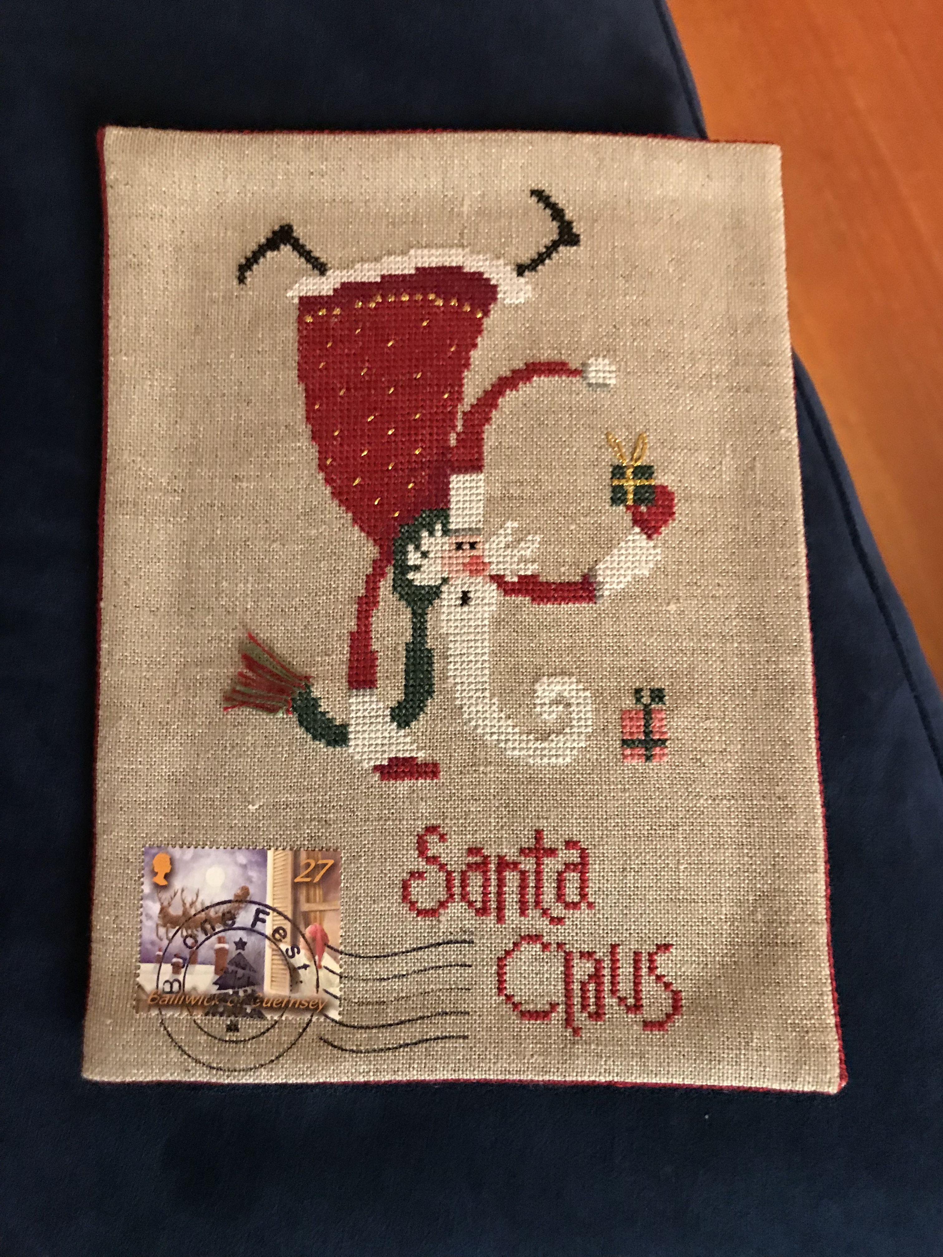 Pin Madeleine Mulanix Cross Stitch Santa 123