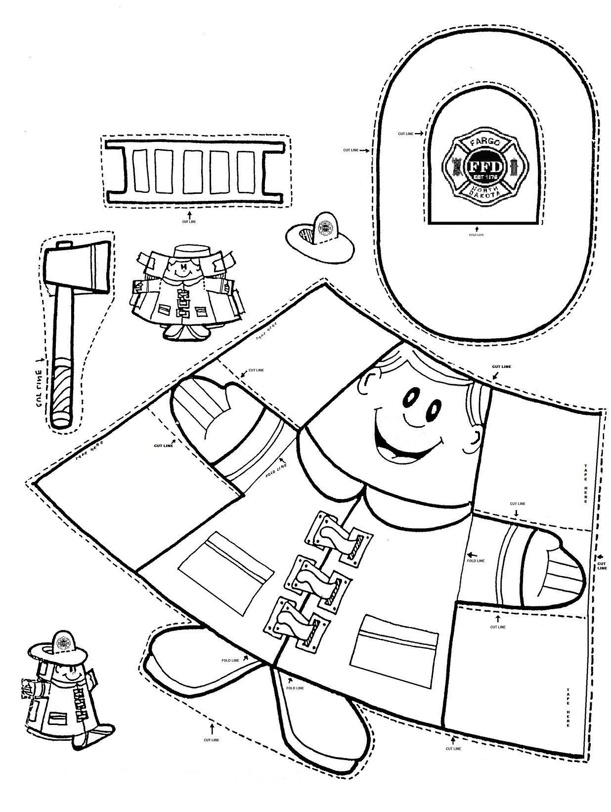 Worksheets Fire Safety Worksheets fire safety firemen puppet and cups safety