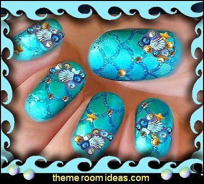 Nail Art Ocean Themed Nailsnail Designocean Themed Decorative Nail Amazing Decorative Nail Art Designs