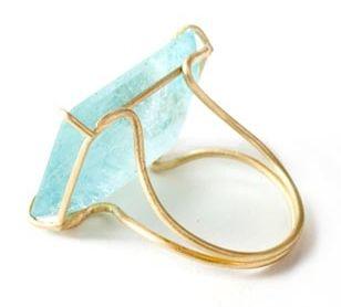 Aqua ring by Rosanne Pugliese