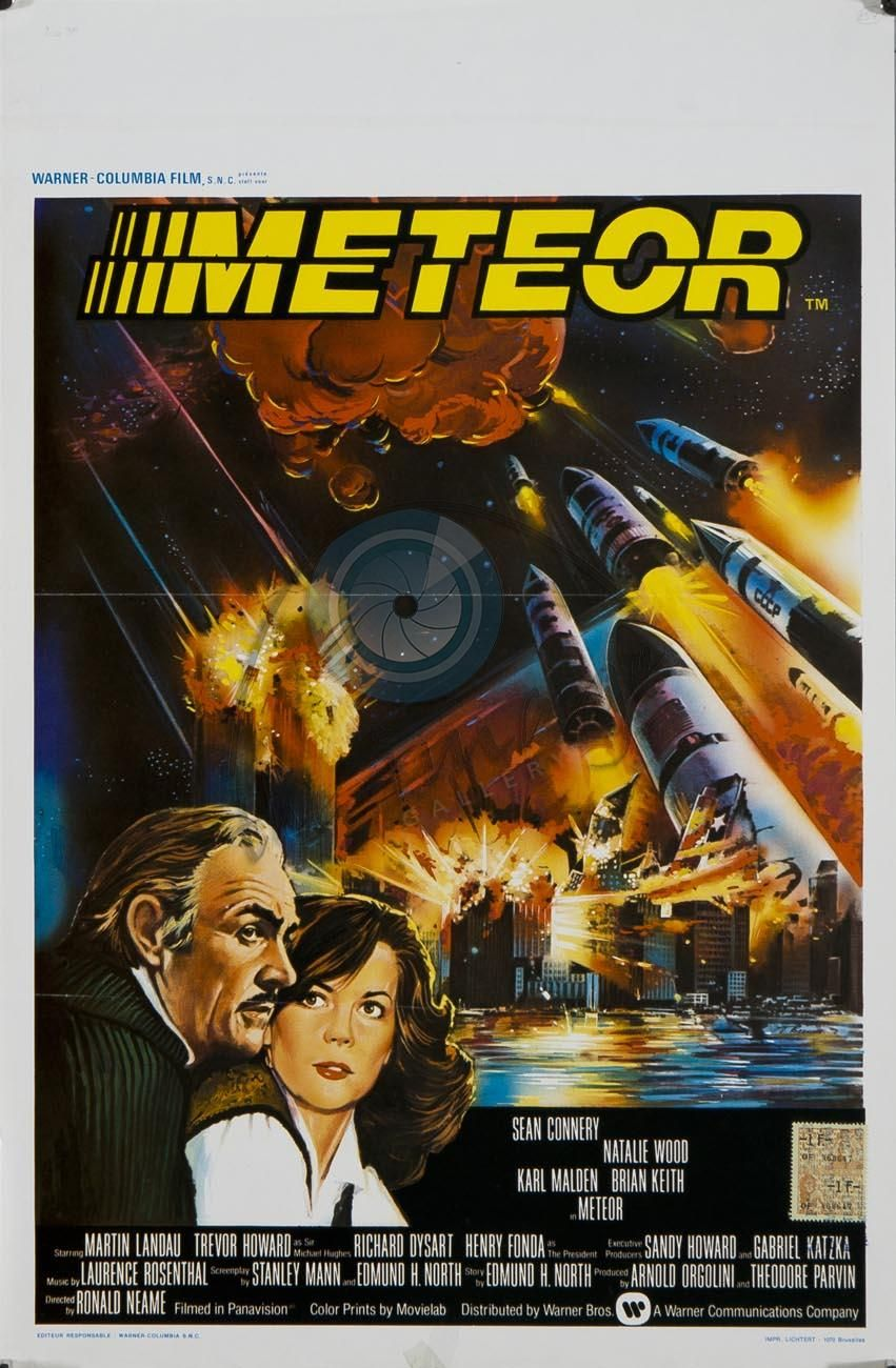 """Meteor (1979); '70s answer to """"When Worlds Collide.""""  Watched it recently and it wasn't as bad as I remembered (as a kid it seemed interminably boring)."""