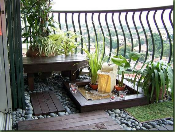 Image result for small gardens in balcony