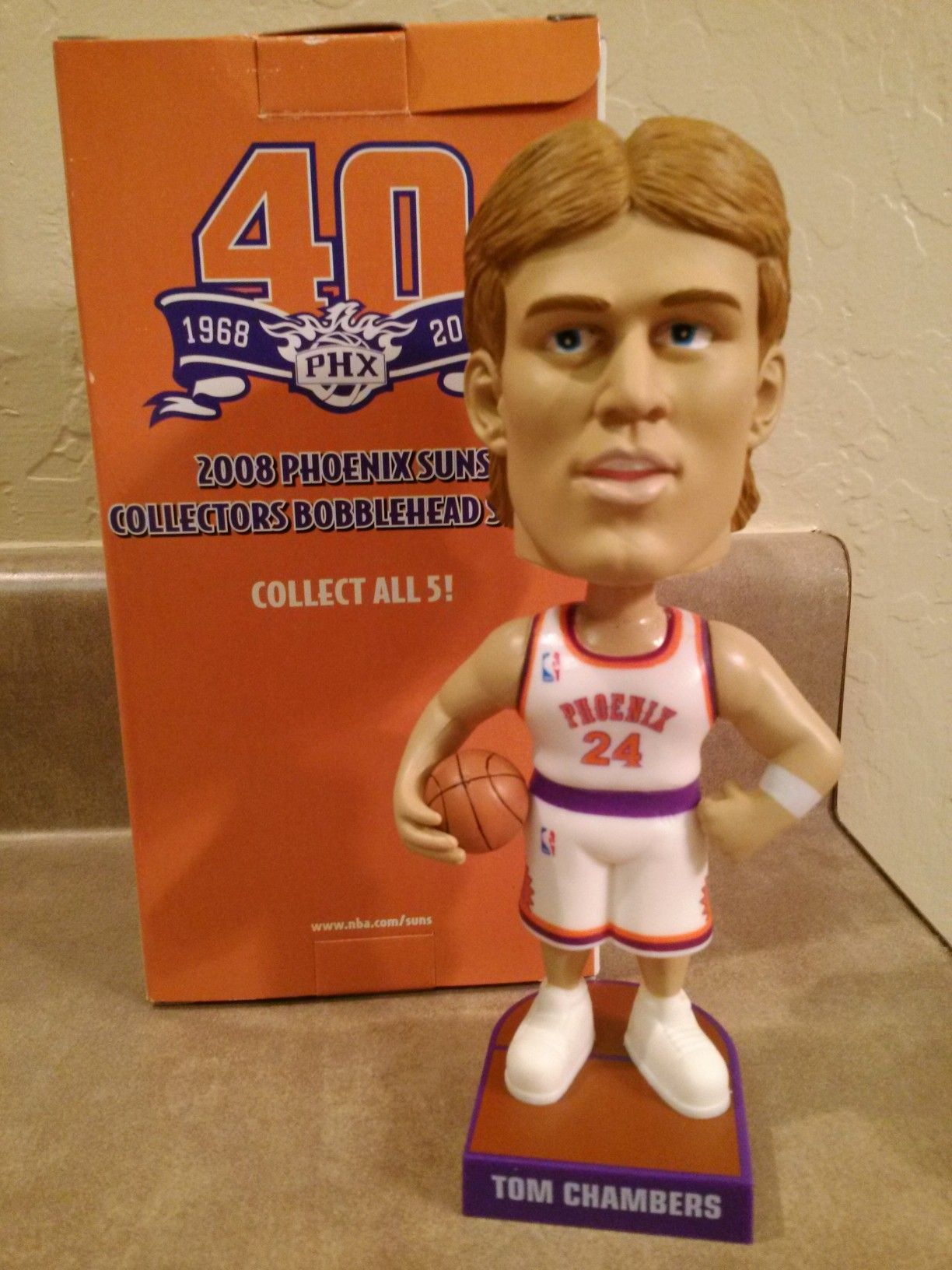 Tom Chambers Bobblehead Suns 40th Anniversary