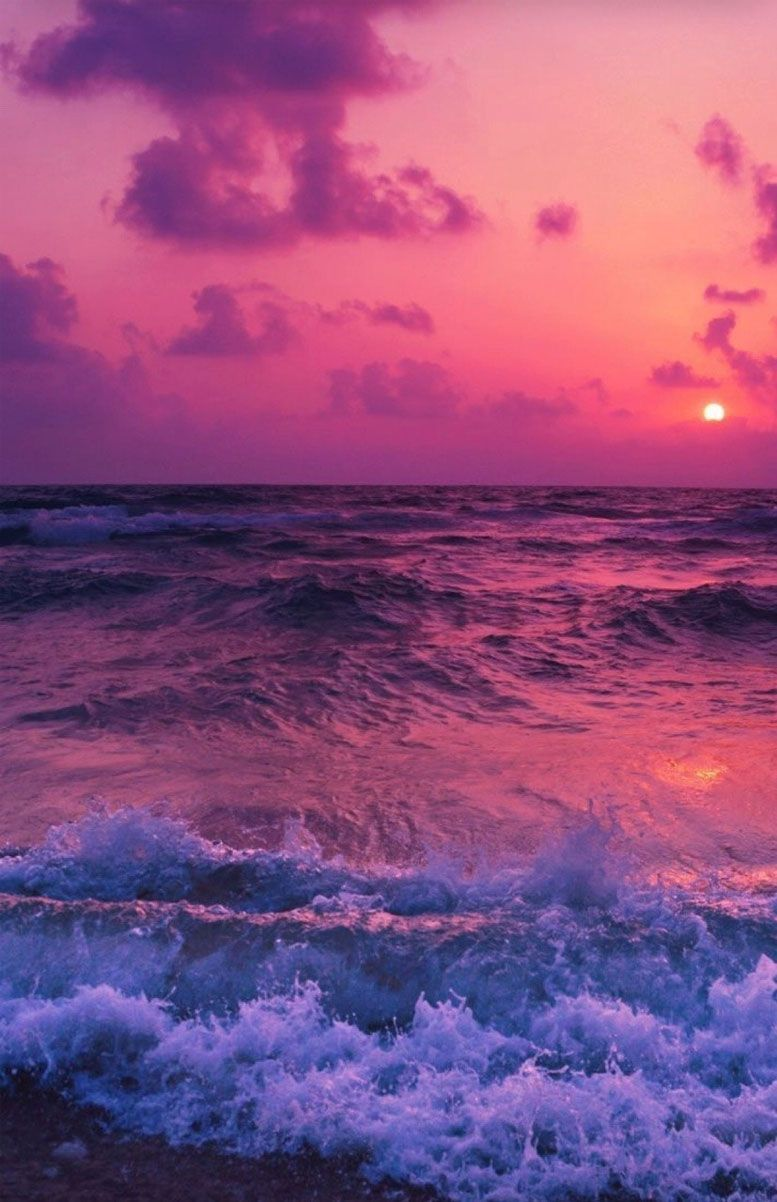#magical seashore #pink sunset #gorgeous