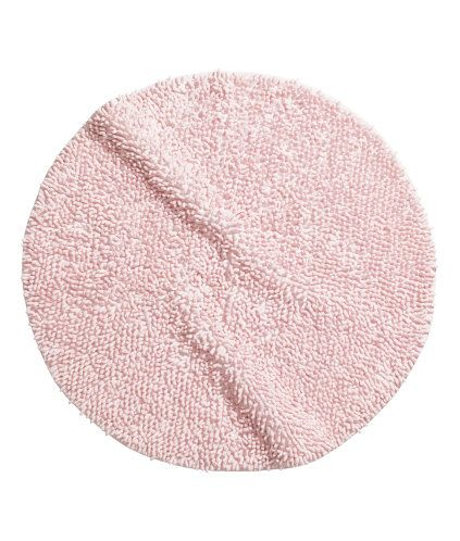 Light Pink Soft Round Bath Mat With A Tape Trim Diameter 28 In