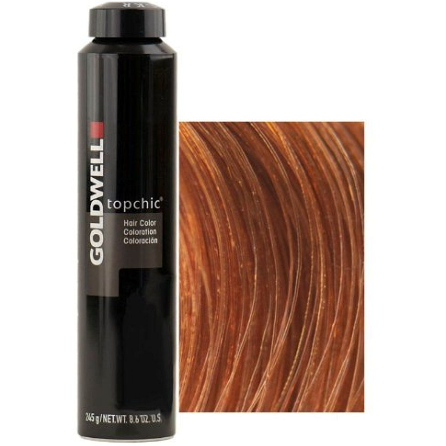 Goldwell Topchic Hair Color 86 Oz Canister 8kg Light Copper