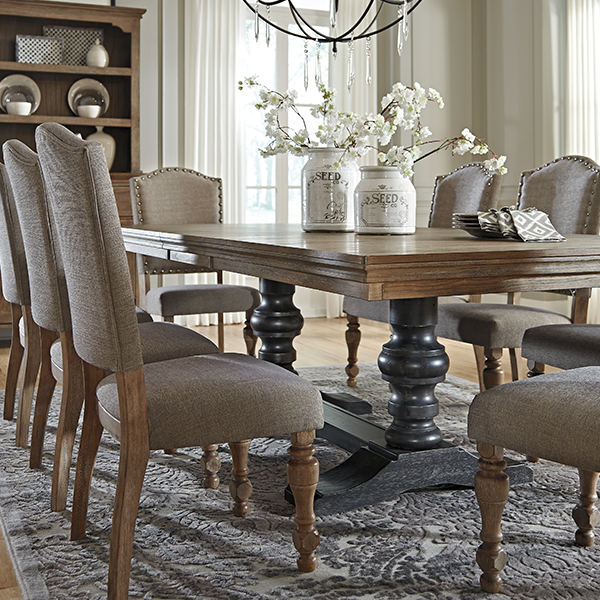 Details Vintage Inspiration With A Softer Side Tanshire Dining Room Table Sets Dining Room Table Set Ashley Furniture Living Room Furniture Dining Room Table