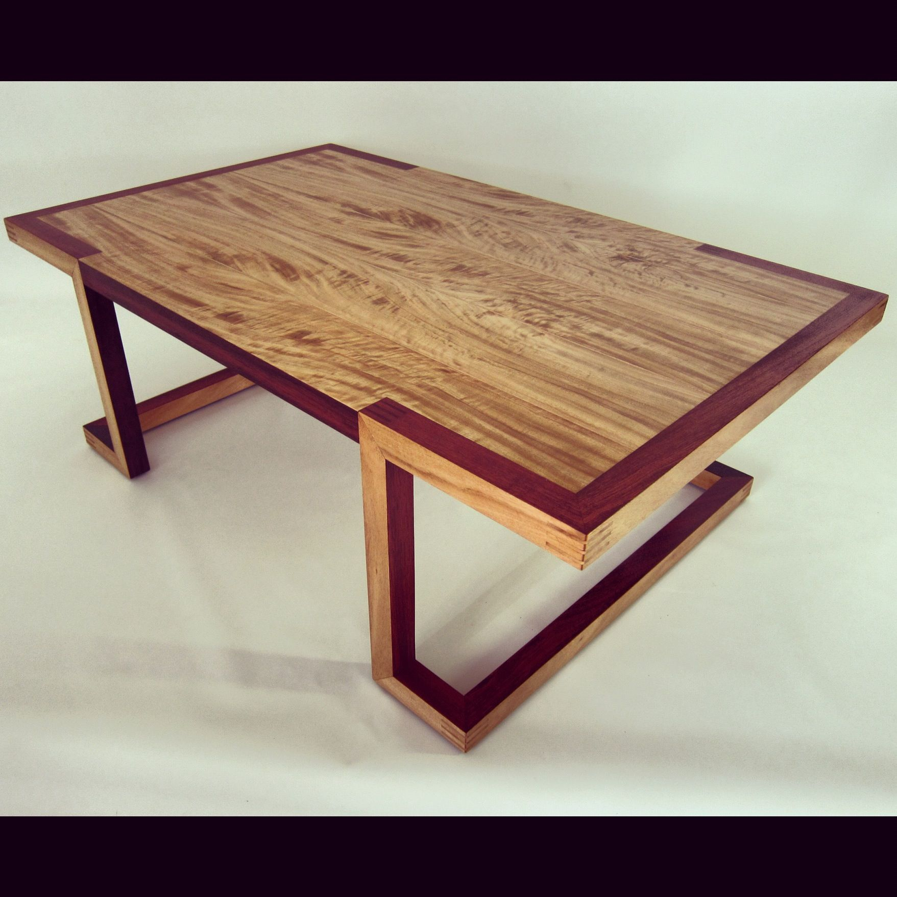 Contemporary coffee table made from Australian timbers Ironbark