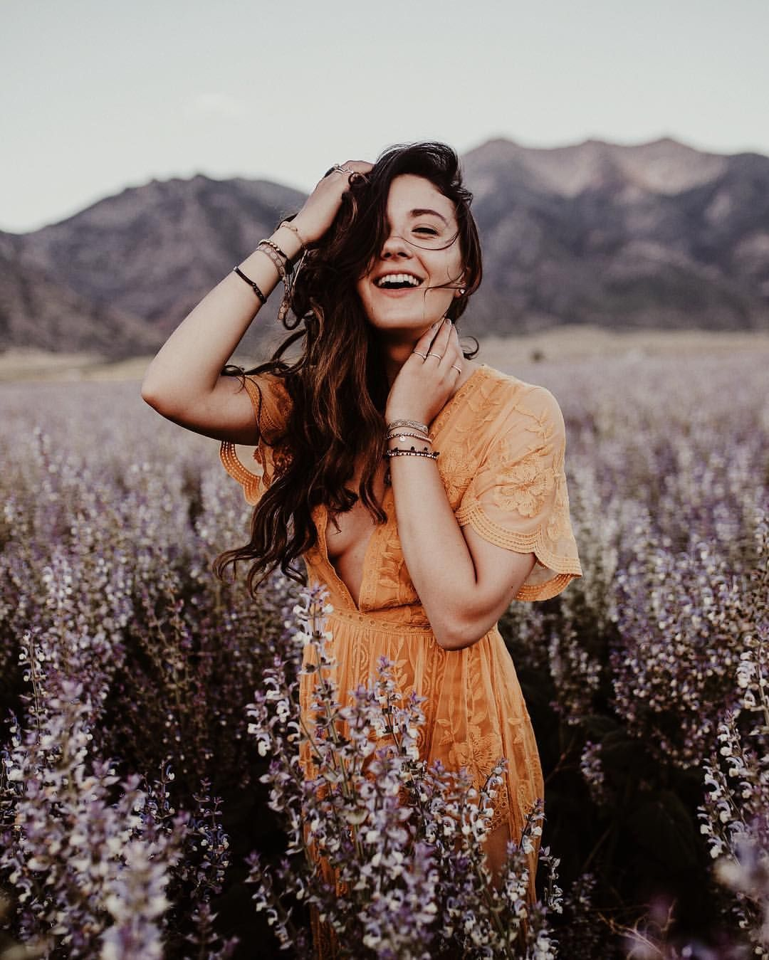 Allegra Rose Edwards danced around some lavender fields in utah & decided that