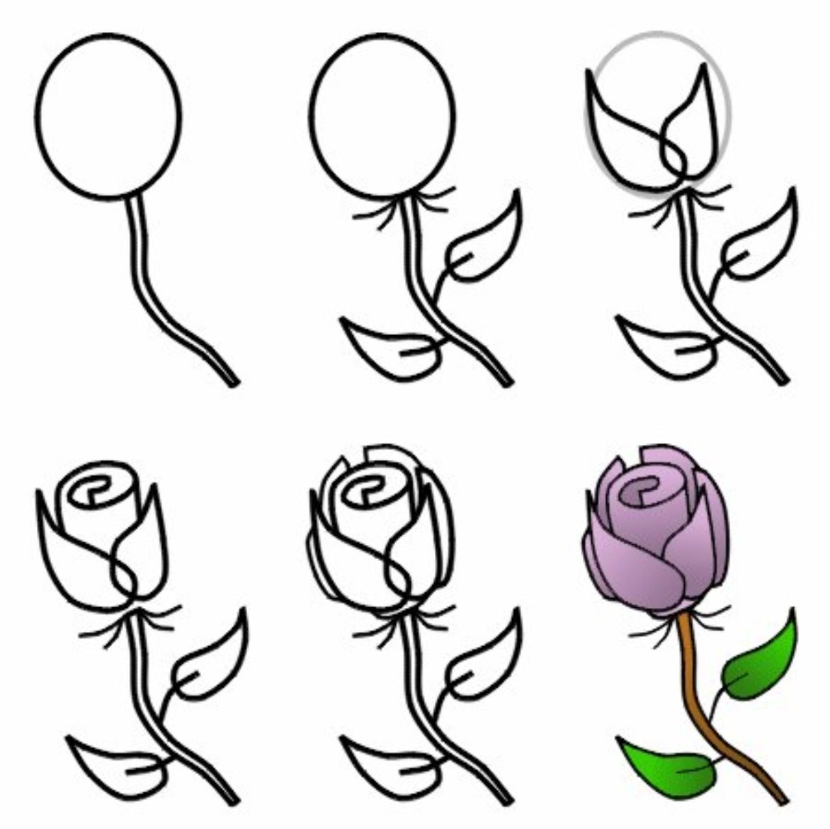 Uncategorized How To Draw A Simple Rose For Beginners pin by natalia jaramillo on drawings pinterest draw doodles how to a rose step with pencil