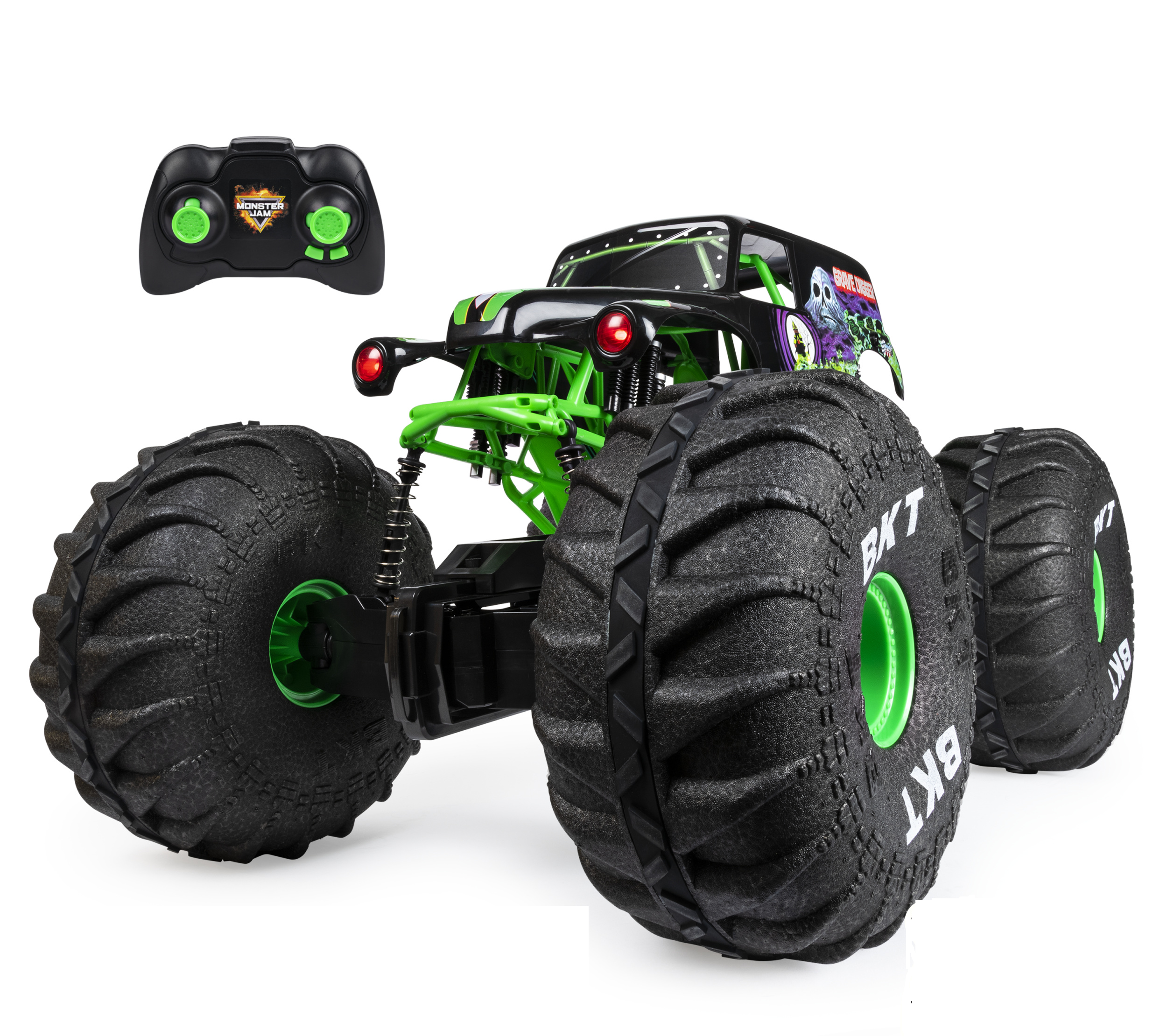 Monster Jam Official Mega Grave Digger All Terrain Remote Control Monster Truck With Lights 1 6 Scale Walmart Com Monster Jam Monster Trucks Remote Control Trucks