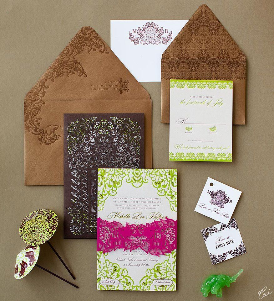 Bali Inspired Wedding Invitation Art Design Printing