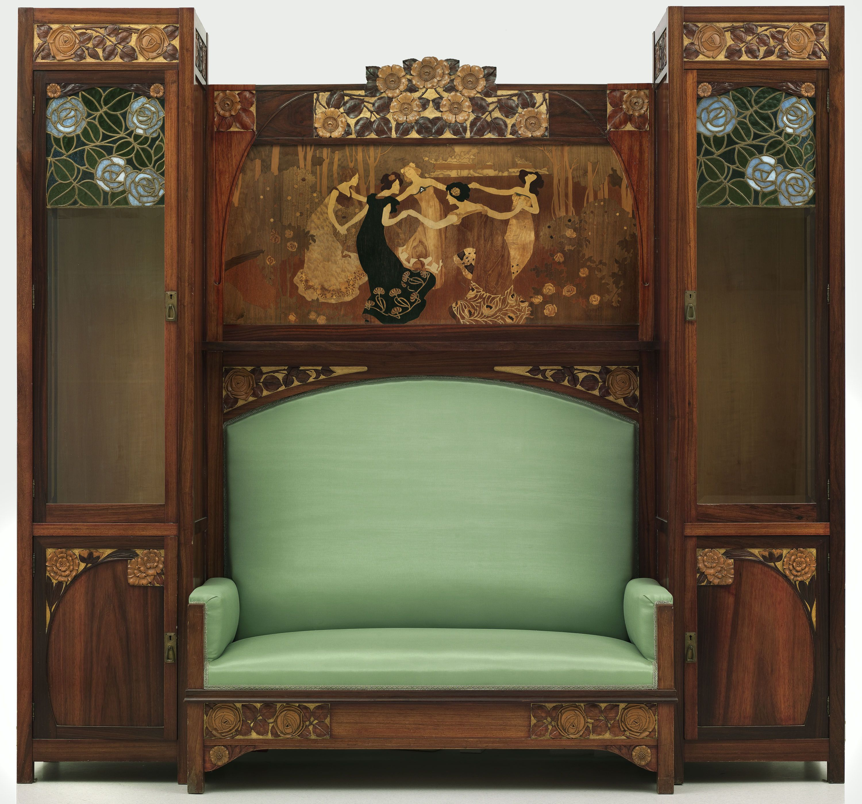 Settee with side and marquetry panel '' La