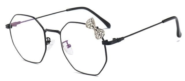 afccaa6e857a Peekaboo Clear Lens Square Glasses Women Frame Butterfly Decor Black Gold  Metal Fashion Glass Decoration Party