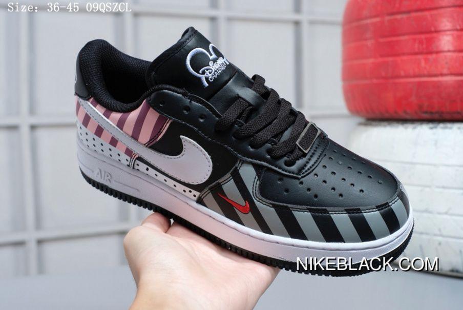 e018e5749a Nike Air Force 1 Low X Disney Classic Unisex Skateboarding Shoes Black  White Grey Pink Online