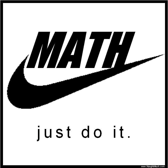 Just a cool math logo  I am sure Nike is down with this