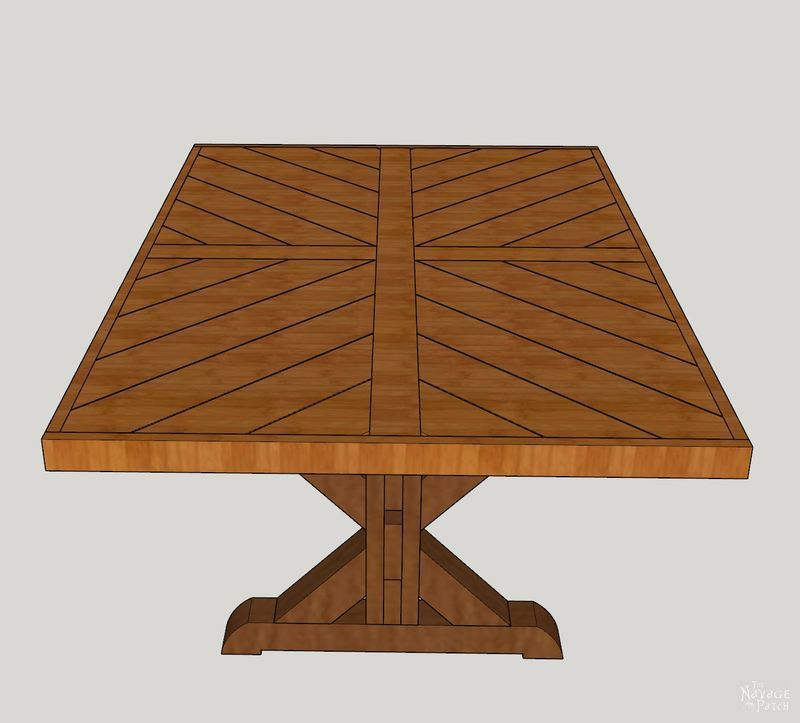 Diy farmhouse table trestle table the navage patch