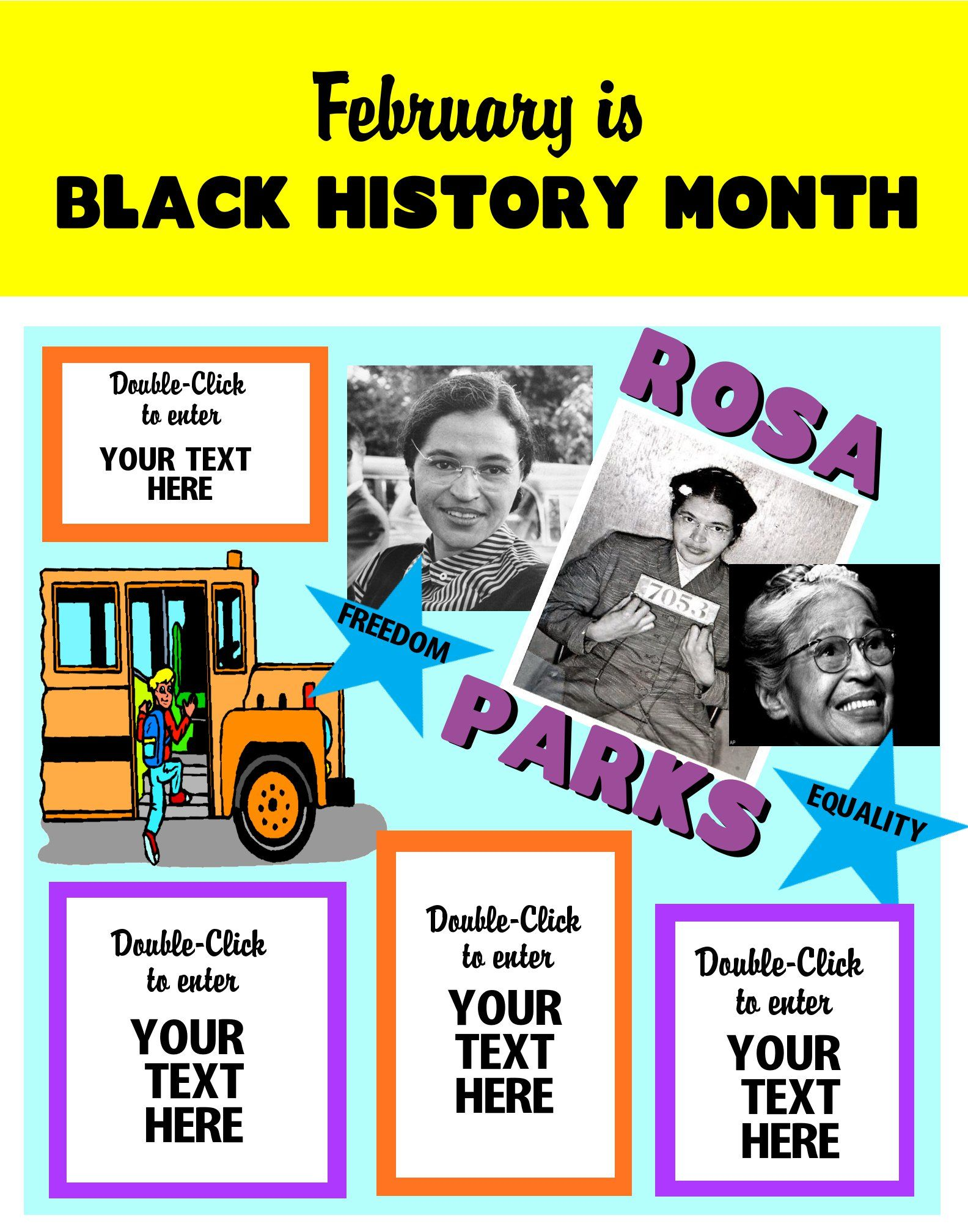 medium resolution of create a poster about rosa parks black history month poster ideas