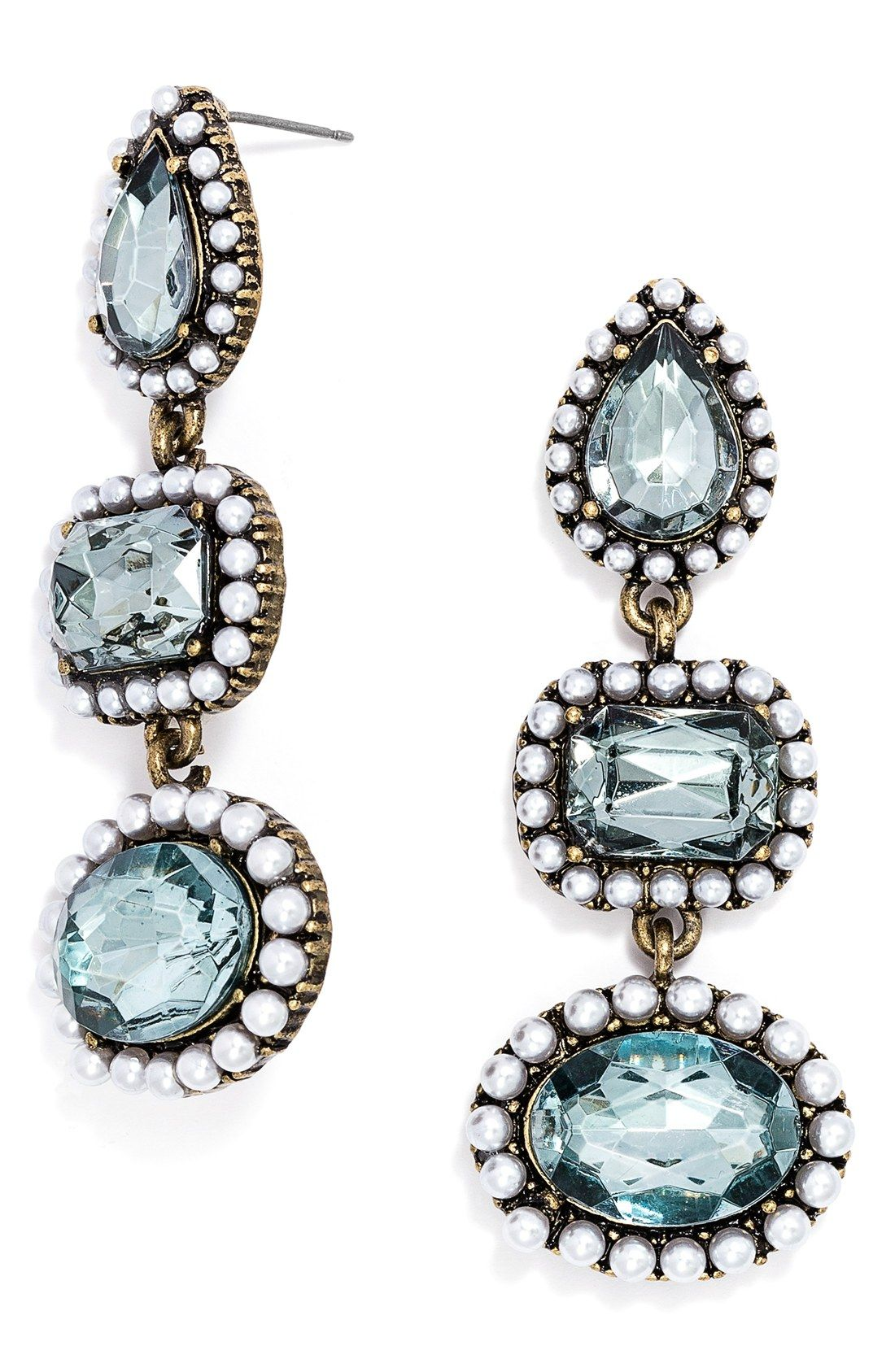 2ed5aa4a2d8b These bead-encrusted crystals in an array of geometric shapes make for a  gorgeous drop