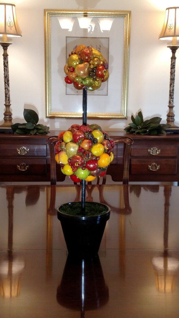 Christmas Centerpiece- Double Ball Fruit Topiary Products in 2018
