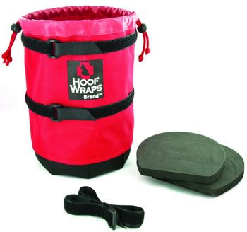 This is kinda neat. It's a soaking boot.  You don't have to stand there to babysit your horse while his foot soaks in a tub.