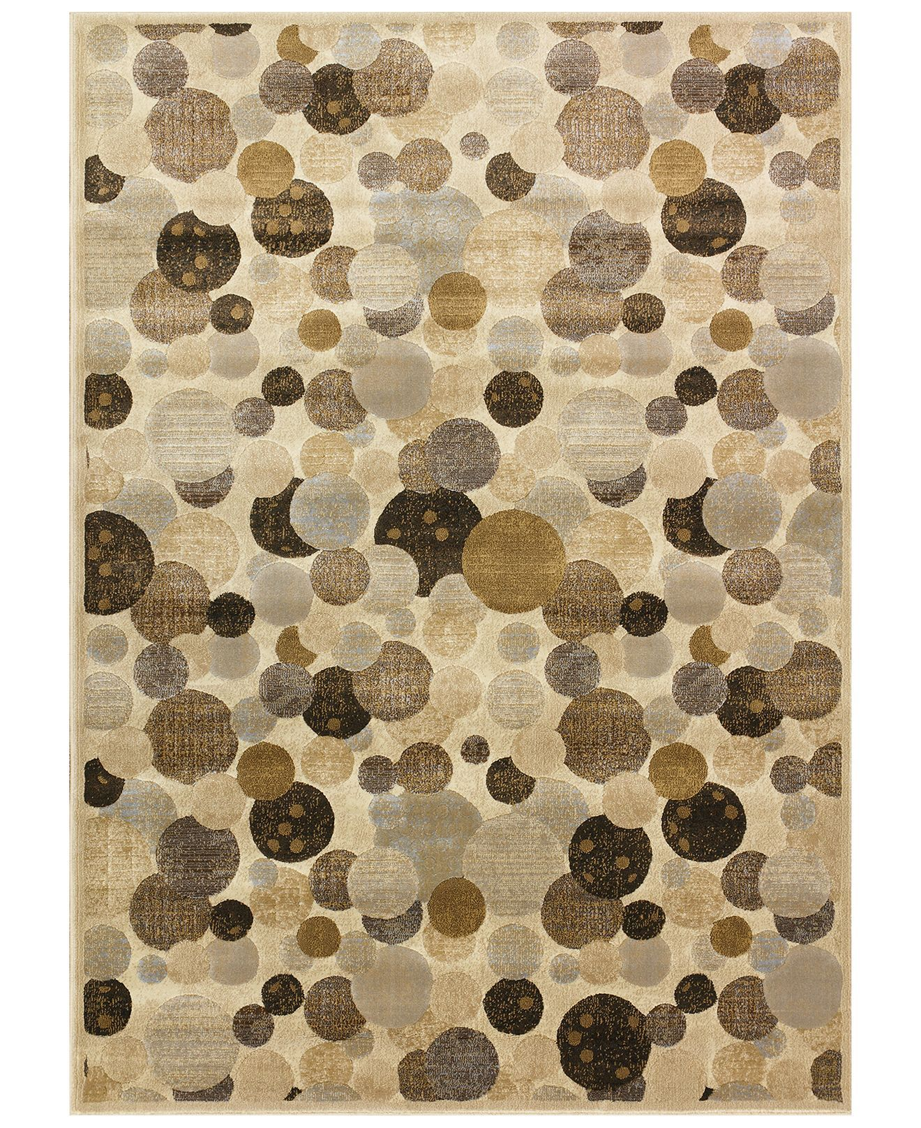 "Kenneth Mink Area Rug, Kingston WW1 Beige 7'10"" X 10'10"