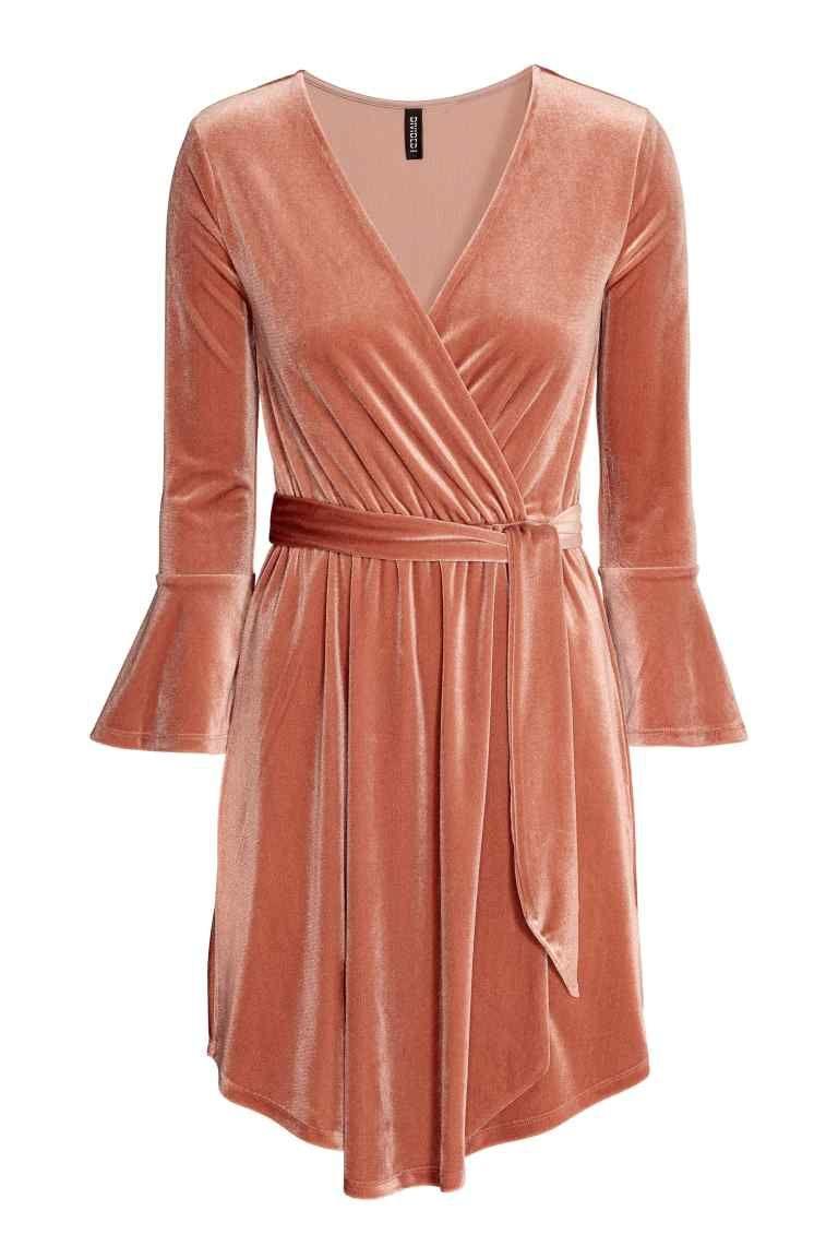 Vestido Com Traçado Veludo Vestido De Veludo Rosa