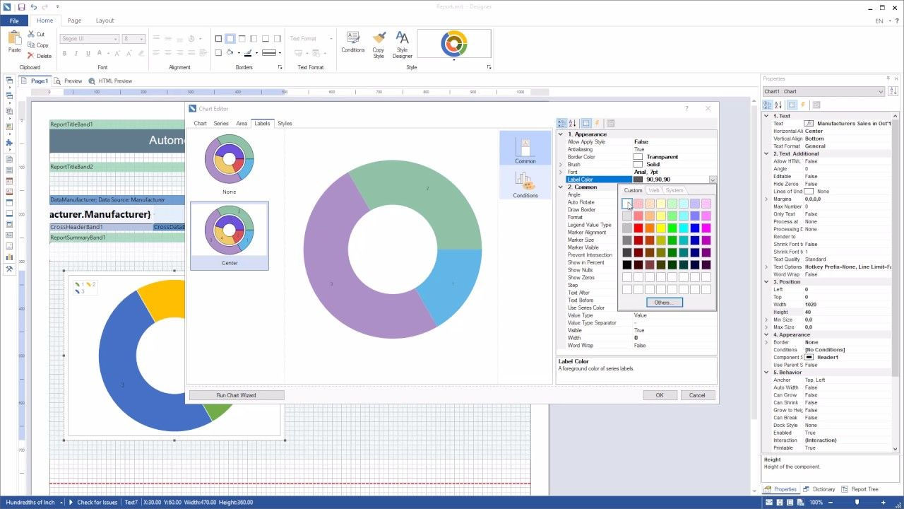 Net Reporting Tools Creating Master Detail Report Using Cross Bands Master Detail Band
