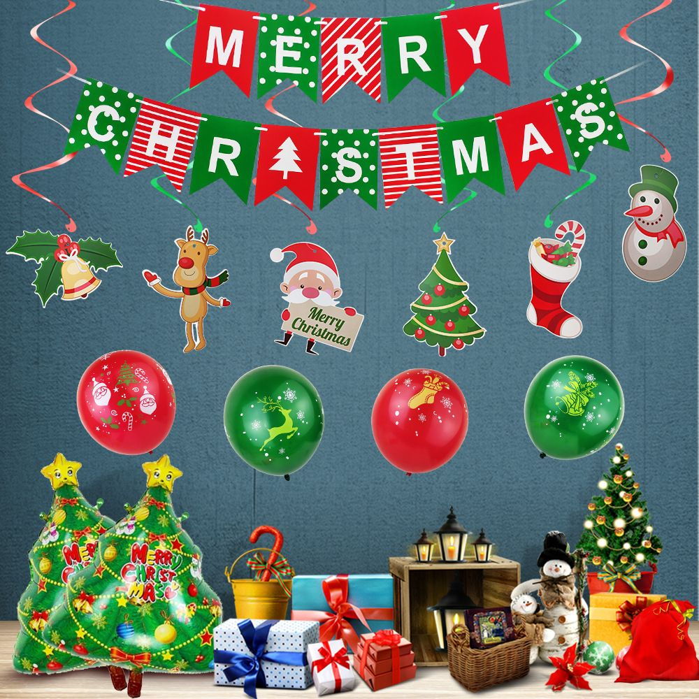 Merry Christmas Balloons Set And Green Red Christmas Wedding Baloons Christmas Banner Christmas Swril Xmas Party Decor 2 Christmas Balloons Christmas Banners Red Christmas