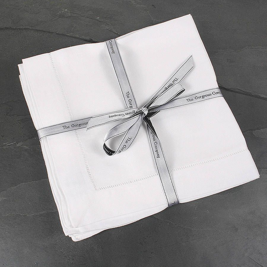 100% linen napkins - set of four by the gorgeous company   notonthehighstreet.com