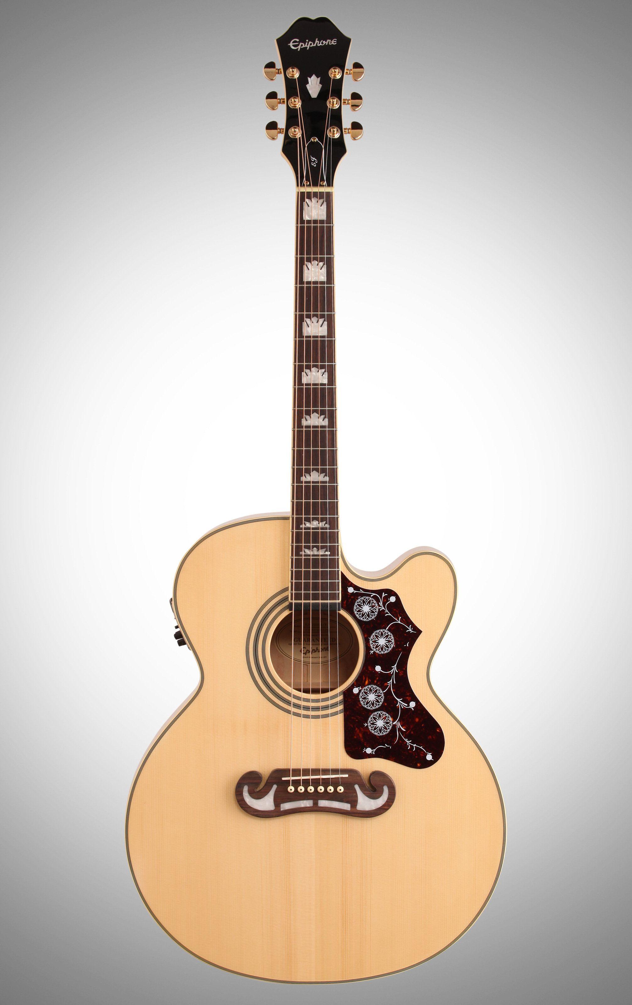 Epiphone Ej 200sce Jumbo Cutaway Guitar Epiphone Guitar Acoustic Guitar